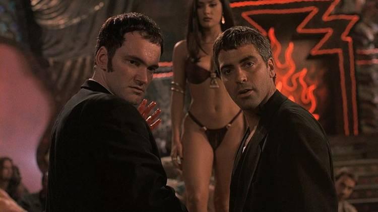 """Quentin Tarantino, George Clooney y Salma Hayek en """"Abierto hasta el amanecer"""""""