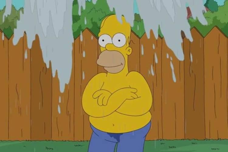 Homer Simpsons se moja por una buena causa: El Ice Bucket Challenge