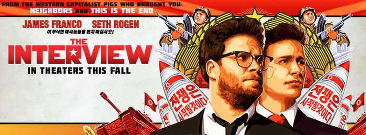 """Cartel promocional de """"The Interview"""""""