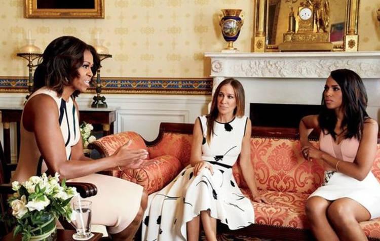 ¿Qué hacen juntas Sarah Jessica Parker, Michelle Obama y Kerry Washington?