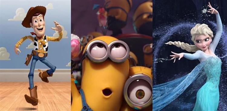 Las diez películas de dibujos animados más taquilleras de la historia