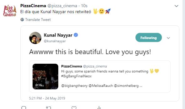 Kunal Nayyar Twitter