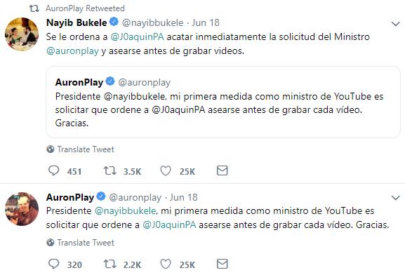 AuronPlay Ministro Youtube