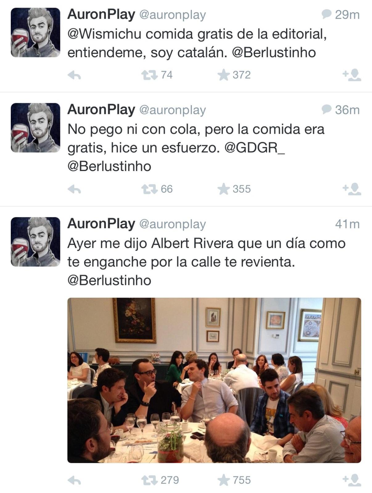 AuronPlay con Albert Rivera, Risto Mejide y Revilla