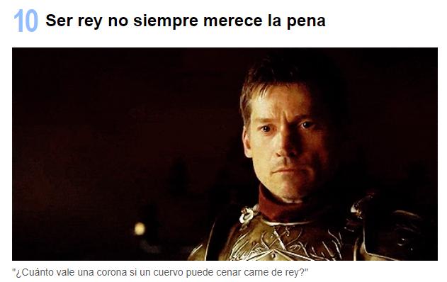Frases Jaime Lannister Juego de trono - Mejores momentos Jaime Lannister