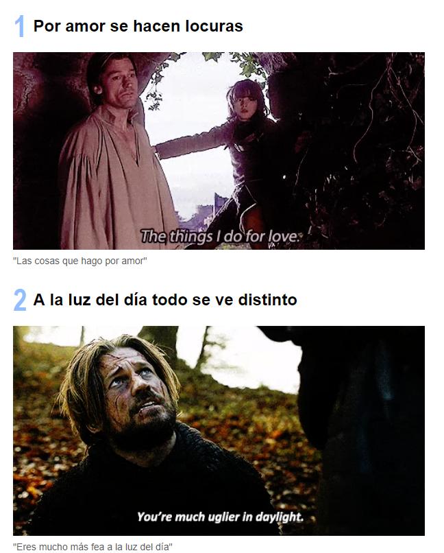 Frases Jamie Lannister Juego de trono - Mejores momentos Jamie Lannister