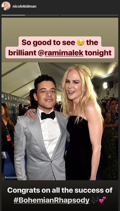 Nicole Kidman y Rami Malek y su No Saludo en los Globos de Oro